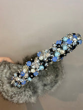 Load image into Gallery viewer, Rabbit Fur Earmuffs with Swarovski crystals