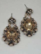 Load image into Gallery viewer, Handmade Beaded Earrings with Swarovski Crystals