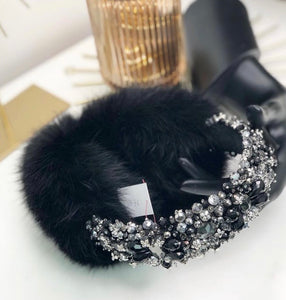 Earmuffs with Swarovski crystals