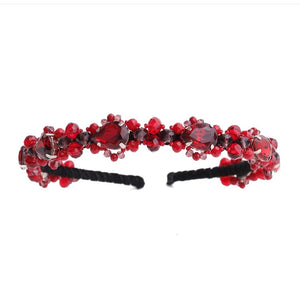 Swarovski Headband in Red