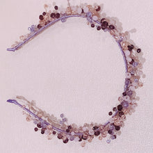 Load image into Gallery viewer, Handmade Headband in Purple Colours