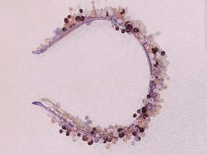 Handmade Headband in Purple Colours