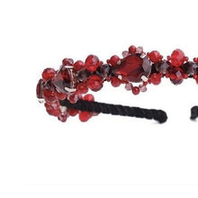 Load image into Gallery viewer, Swarovski Headband in Red