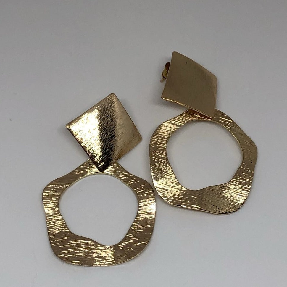Handmade Bijou Earrings in Gold Colour