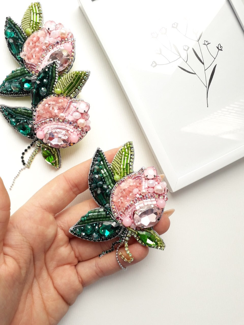 Bouquet of Roses Brooch