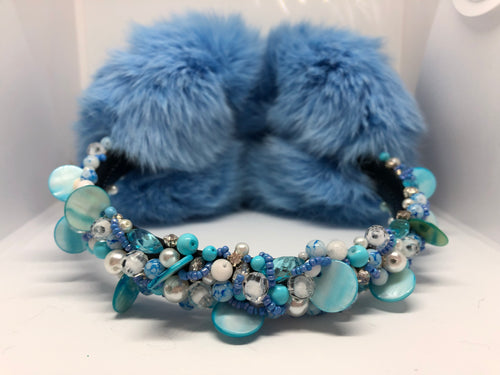 Light Blue Rabbit Earmuffs
