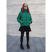 Load image into Gallery viewer, Green Short Winter Jacket