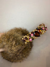 Load image into Gallery viewer, Diamond Rabbit Fur Earmuffs