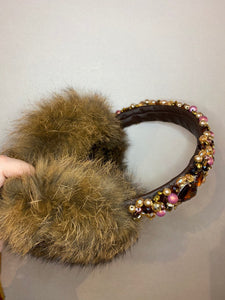 Diamond Rabbit Fur Earmuffs