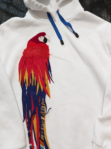 Sweatshirt with a parrot