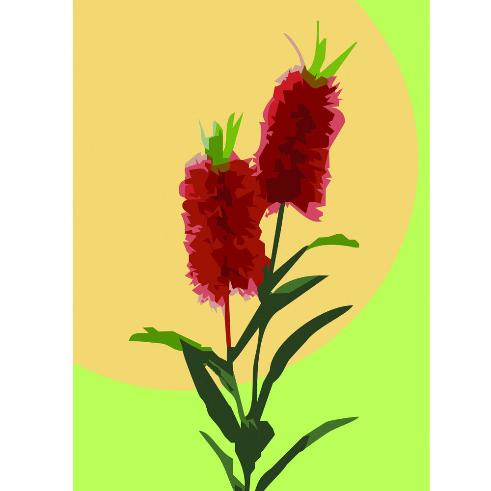 bottle brush art print