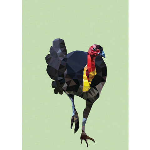 bush turkey art print