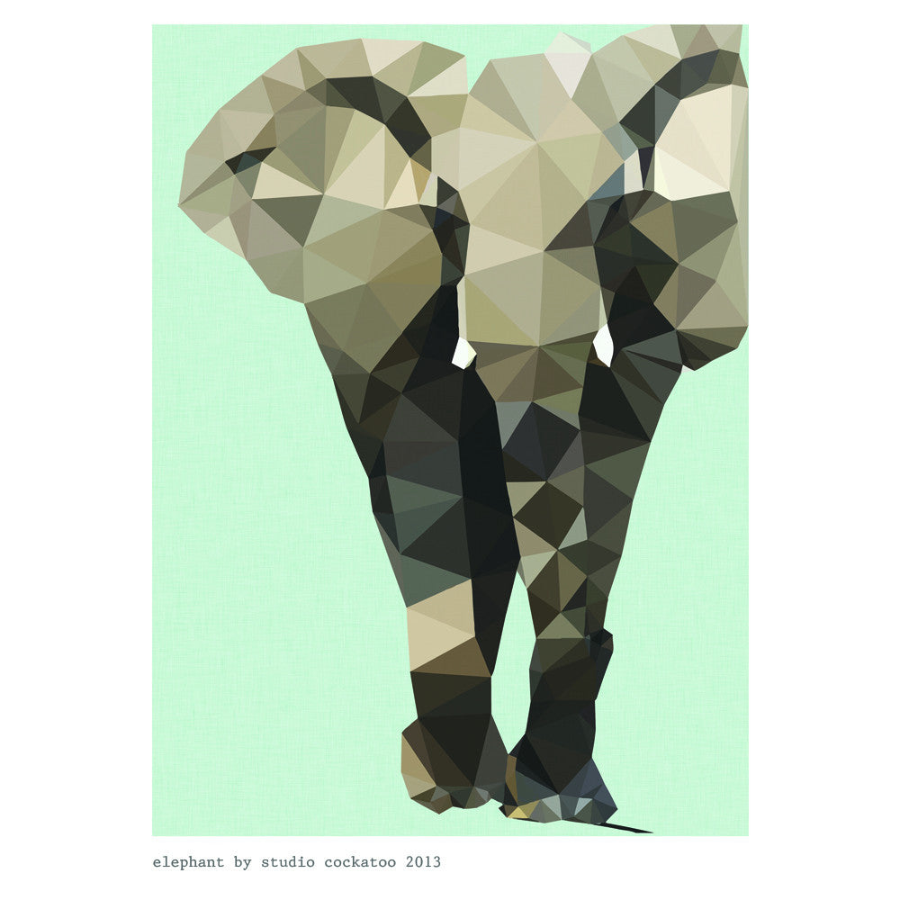 Elephant art print studio cockatoo for Art and craft drawing and painting