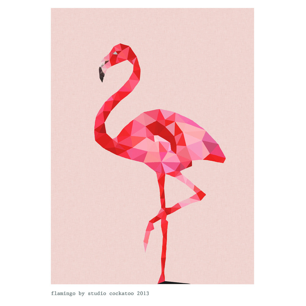 flamingo #1 art print