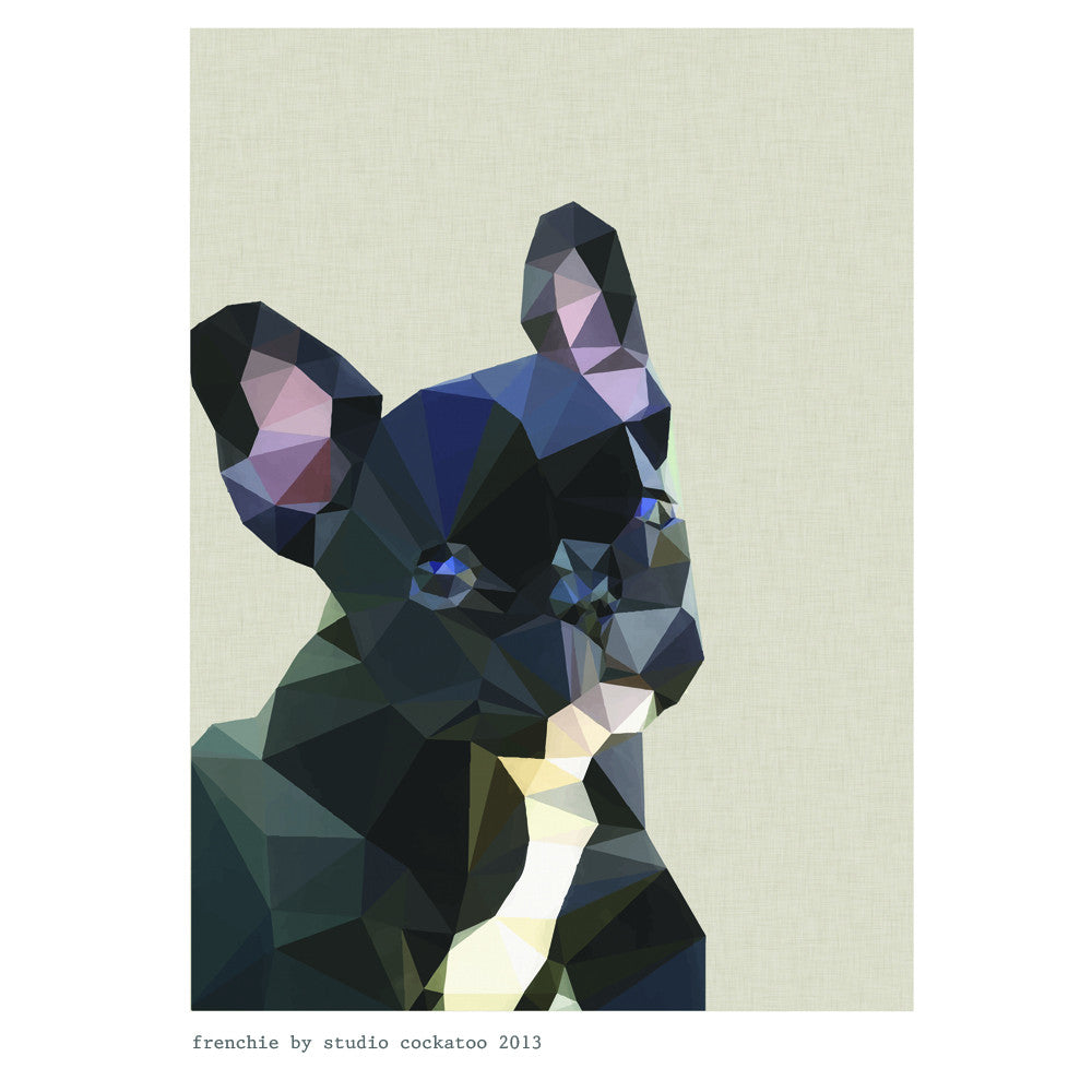 frenchie #1 art print