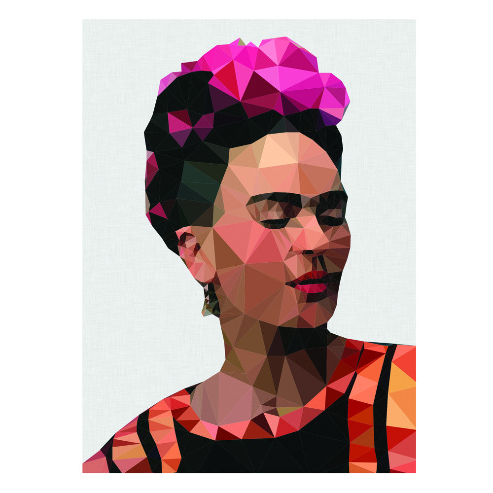 frida 2 art print grey background