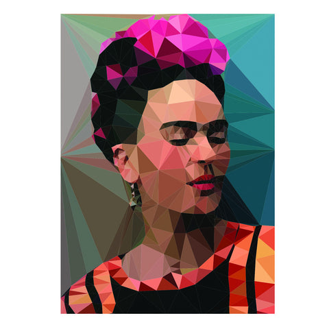 frida 2 art print geo background