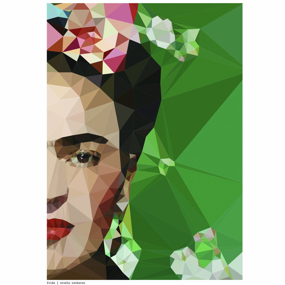 frida crop art print