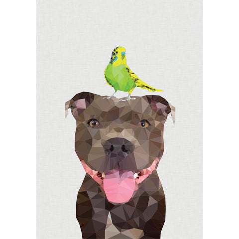 staffy art print