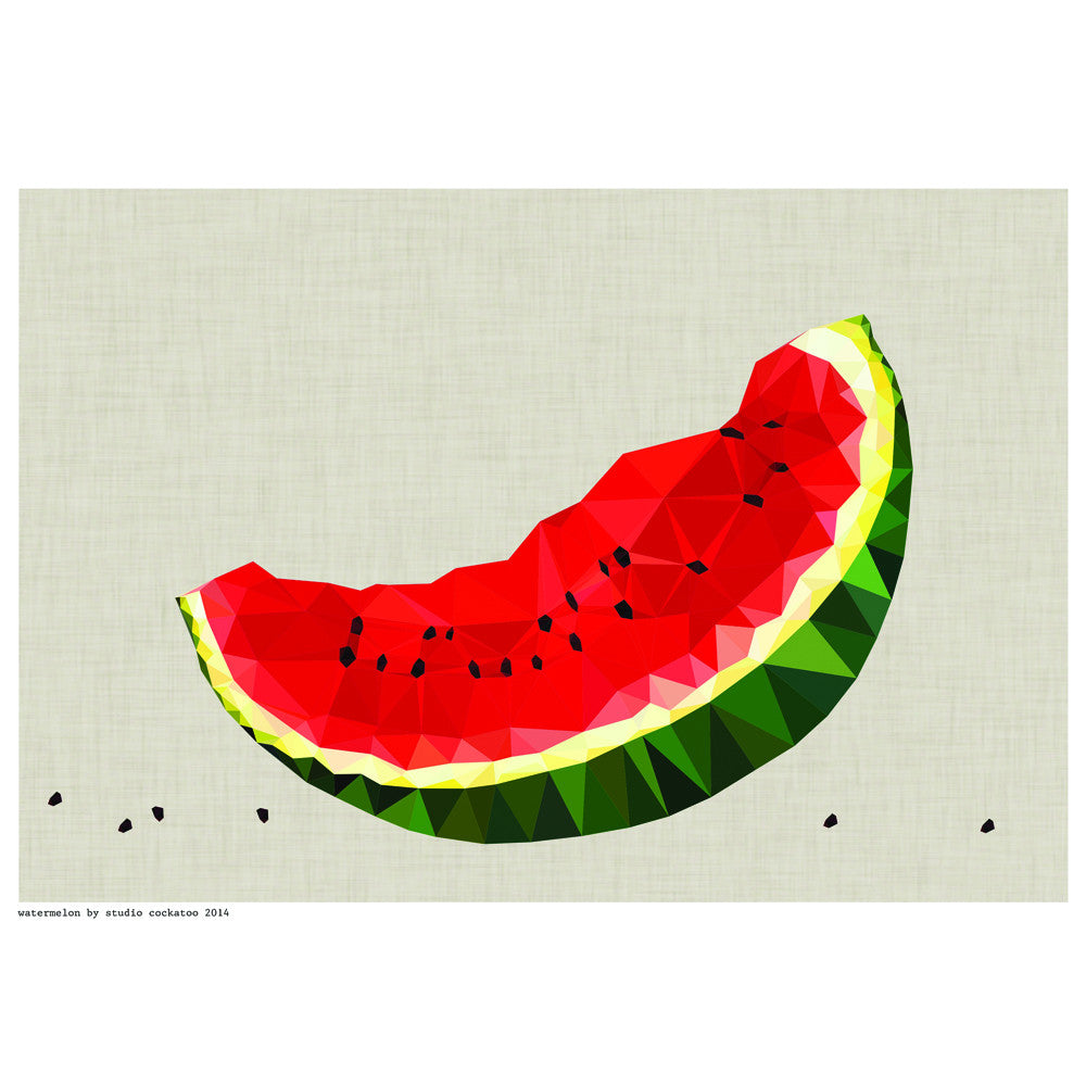 watermelon slice art print