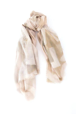 LOVEVOLVE® Scarf: Pink & Grey small , Cashmere/Modal