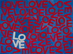 LOVEVOLVE® Blue & Red with one White LOVE