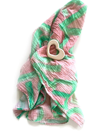 LOVEVOLVE® Swaddle, Pink & Green