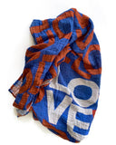 LOVE Layers Baby Swaddle, Red, White & Blue