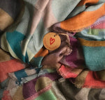 LOVEVOLVE® Scarf: Multi-Color, 100% Cashmere