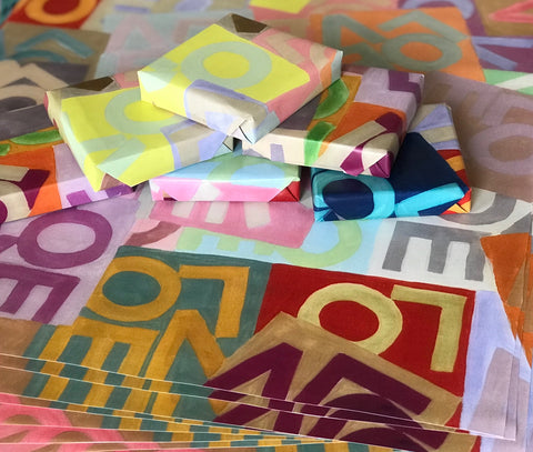 Wrapping Paper Sheets: LOVE Layers © in Multicolor