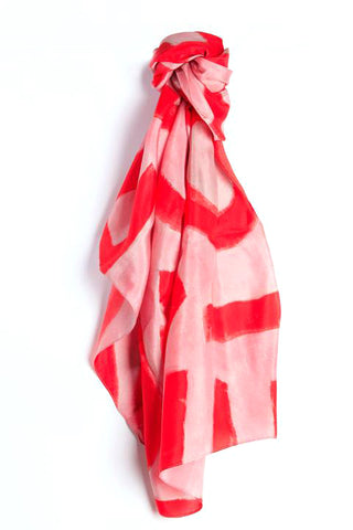 LOVEVOLVE® Scarf: Pink & Red, Silk