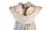 LOVEVOLVE Scarf: Lavender & Cream, Wool/Silk