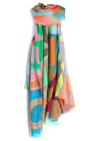 LOVEVOLVE® Scarf: Multicolor, Wool/Silk
