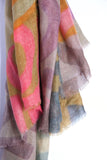 LOVEVOLVE® Scarf: Orange & Pink, Wool/Silk