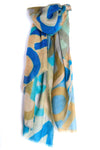 LOVEVOLVE Scarf: Blues, Cashmere