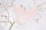 Cotton, Linen & Modal LOVE Scarf: Large White & Pink