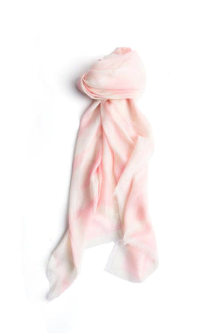 LOVEVOLVE® Scarf: White & Pink, Cashmere/Modal
