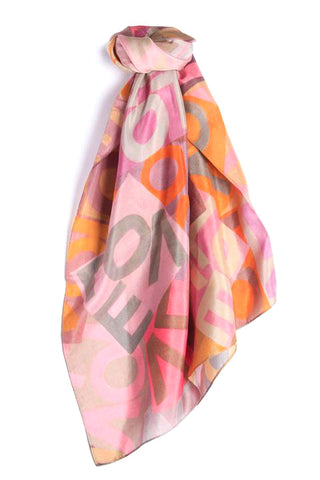 LOVEVOLVE® Scarf: Pink & Orange, Silk