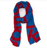 LOVEVOLVE® Scarf: Red, White & Blue, Cotton/Linen/Modal