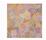 LOVEVOLVE® Scarf: Pink & Orange, Cashmere/Modal Small