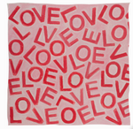 LOVEVOLVE® Scarf: Pink & Red, Cashmere/Modal