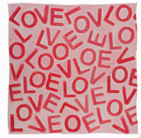 LOVE Scarf: Small Pink & Red, Cashmere & Modal