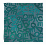 LOVEVOLVE® Scarf Greens Cashmere/Modal  Large