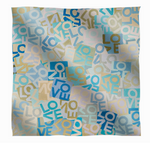 Cashmere & Modal LOVE Scarf: Small Blues