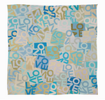 Wool & Silk LOVE Scarf: Large Blues