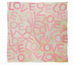 LOVEVOLVE® Scarf: Pink & Cream, Cashmere/Modal