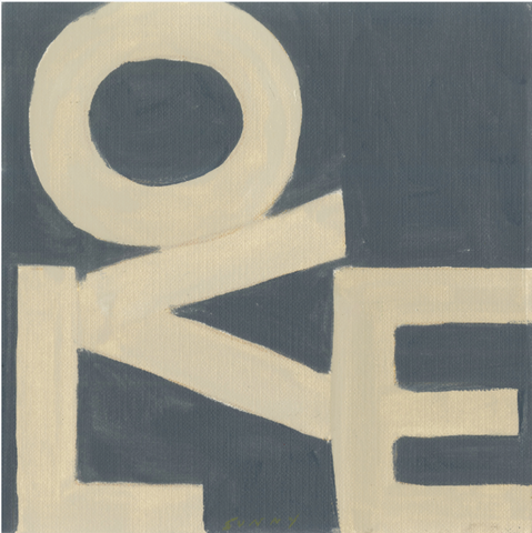 LOVE Square © Print: Cream & Black
