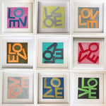 LOVE Square © Print: Peach & Gray