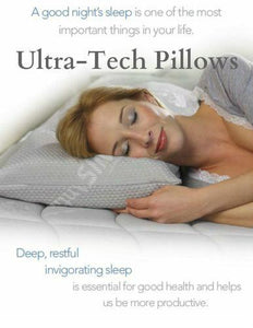 Patented Memo-Temp Silver Ion Hypoallergenic Adjustable Pillow