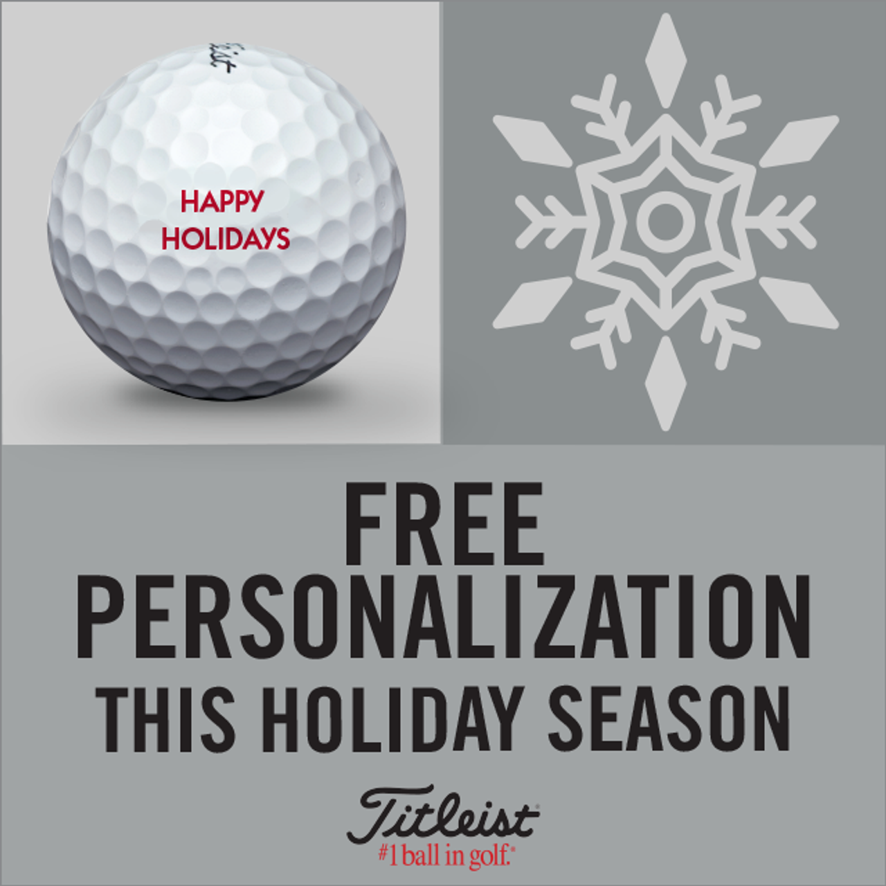 Titleist Personalized Holiday Golf Ball PROMO